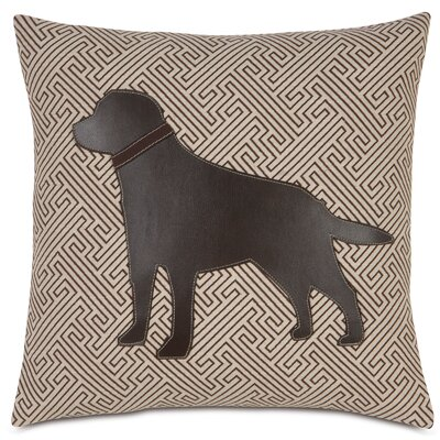 Pets Lab in Maze Throw Pillow