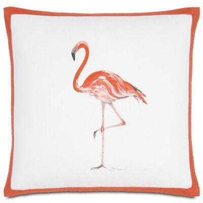 Outdoor Flamingo Throw Pillow
