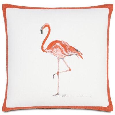 Outdoor Flamingo Throw Pillow