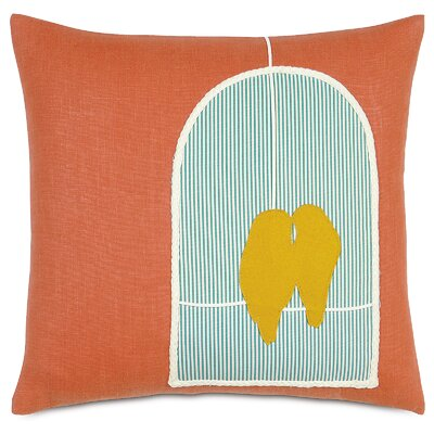 Wild Things Love Birds Linen Throw Pillow