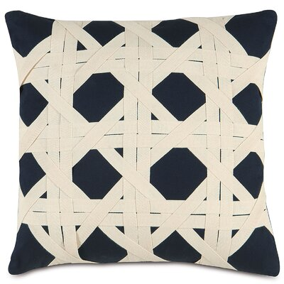 Nautical Caning Throw Pillow Color: Navy