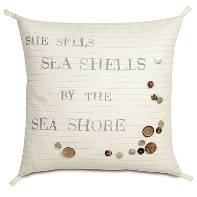 Nautical Shells by the Shore Throw Pillow