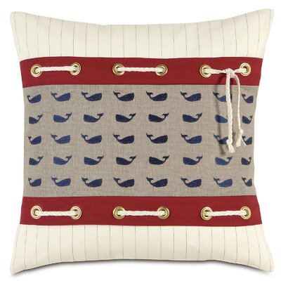 Nautical Whale Pants Linen Throw Pillow