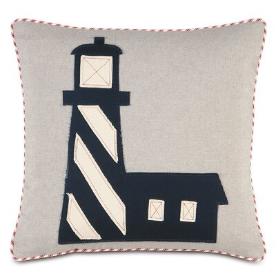 Nautical Rocky Shore Throw Pillow