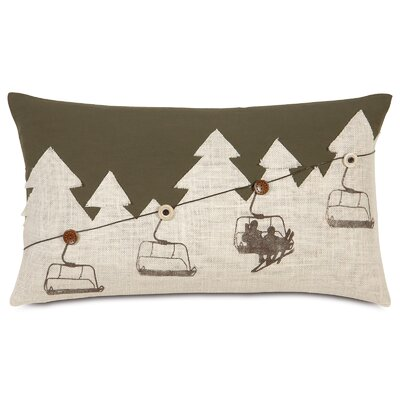 Ski Lodge Up Lift Lumbar Pillow