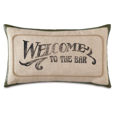 Man Cave Welcome to the Bar Lumbar Pillow