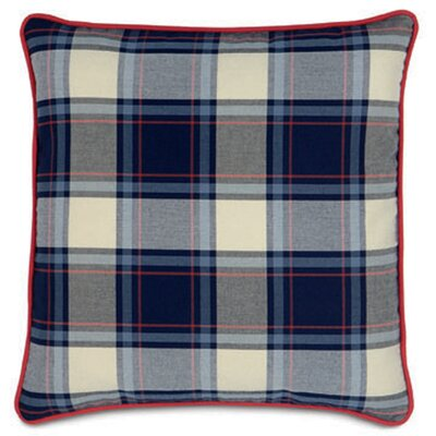 Nautical Set Sail Plaid Throw Pillow