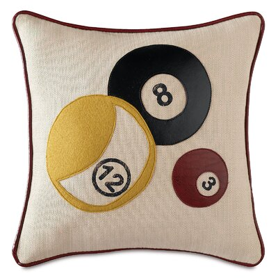 Man Cave Billiards Throw Pillow