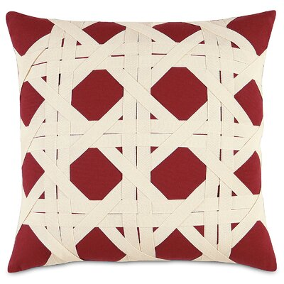 Nautical Caning Throw Pillow Color: Red