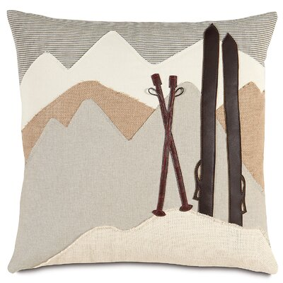 Ski Lodge On The Piste Indoor Throw Pillow
