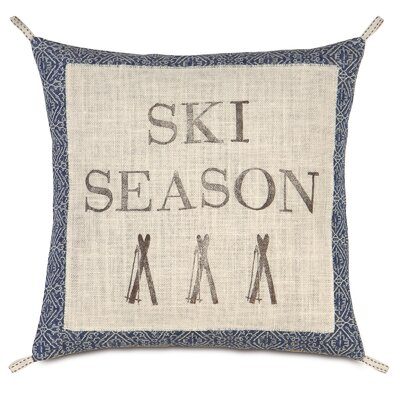 Ski Lodge Season Throw Pillow