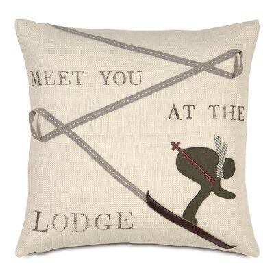 Ski Lodge Meet You at the Lodge Throw Pillow
