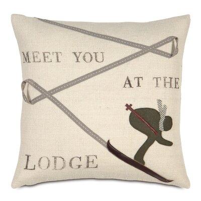 Ski Lodge Meet You At The Lodge Throw Pillow
