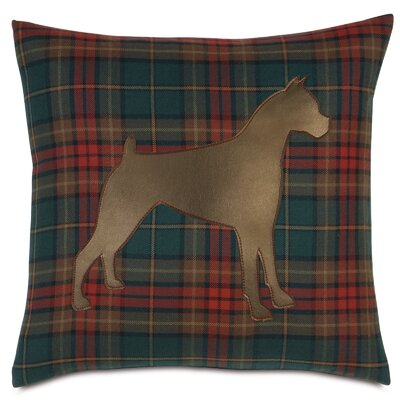 Pets Boxer on Brandy Spice Throw Pillow