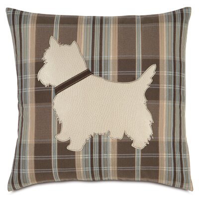 Pets Yorkie Does Plaid Throw Pillow