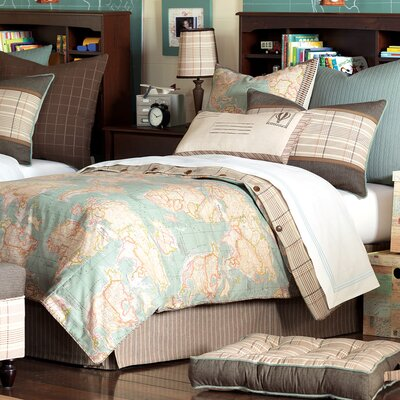 Kai Monde Ocean Duvet Cover Size: Super King