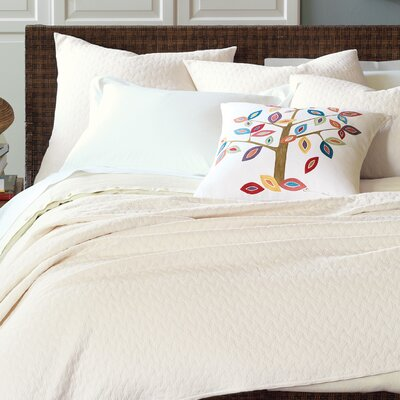 Briseyda Matelasse Coverlet Size: California King, Color: Shell