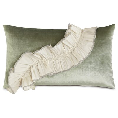 Lourde Velda Spa Ruffle Down Throw Pillow