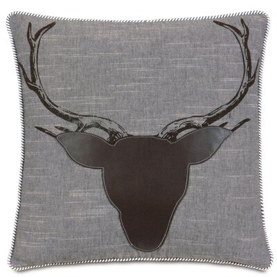 Epic Stone Antlers Down Throw Pillow