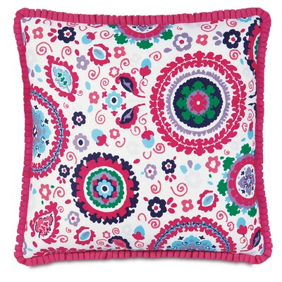 Epic Preppy Pleated Ribbon Throw Pillow