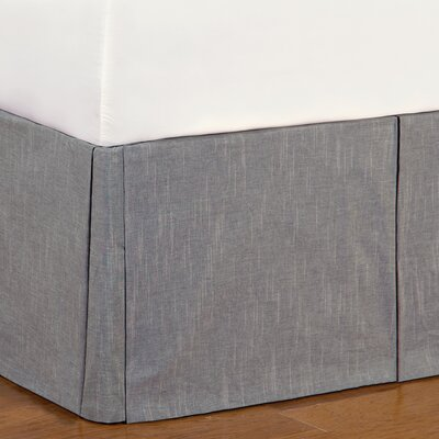 Epic Stone Duvall Slate Bed Skirt Size: Queen