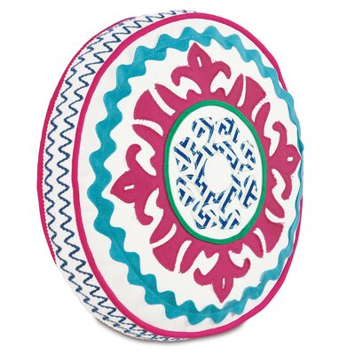Epic Preppy Suzani Tambourine Throw Pillow