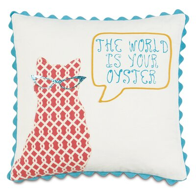 Epic Splash the World Is Your Oyster Throw Pillow