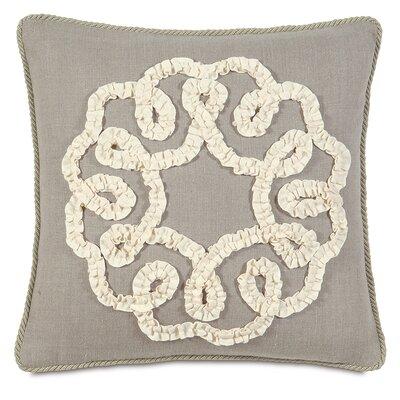 Sabelle Breeze Linen Ruffled Ribbon Down Throw Pillow