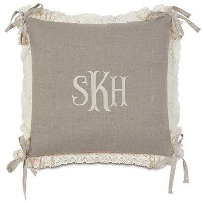 Sabelle Breeze Linen Monogram Down Throw Pillow