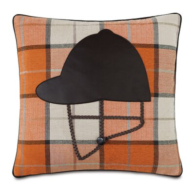 Equestrian Helmet Down Throw Pillow