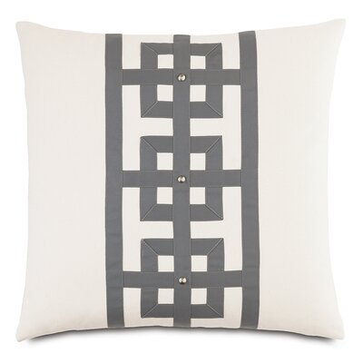 Modern Asian Tranquil Row Throw Pillow