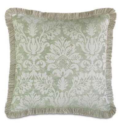 Lourde Celadon Brush Fringe Down Throw Pillow Size: 27 H x 27 W