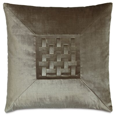 Ezra Velda Smoke Mitered Down Throw Pillow