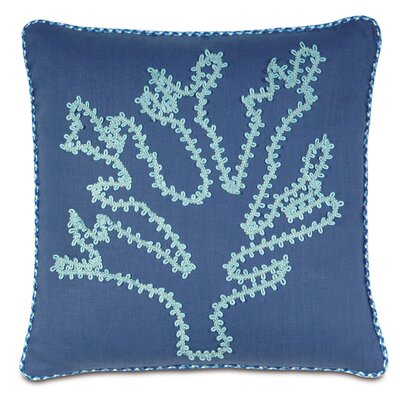 Olympia Breeze Coral Throw Pillow