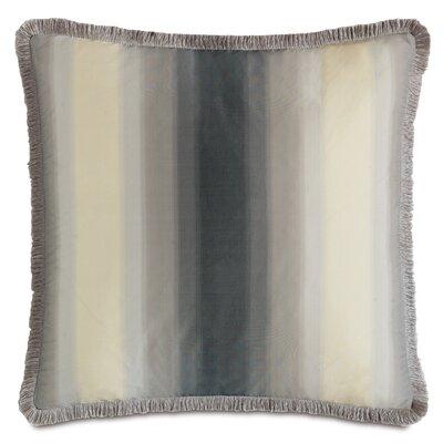 Ezra Soni Slate Brush Fringe Down Throw Pillow
