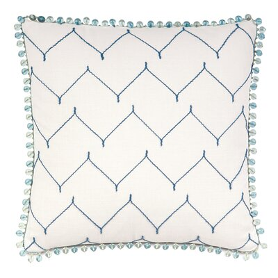 Olympia Zolah Beaded Trim Throw Pillow