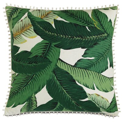 Lanai Palm Loop Trim Down Throw Pillow