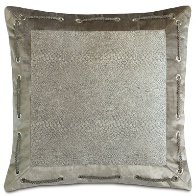 Ezra Smoke Mitered Down Throw Pillow