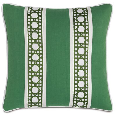 Lanai Carousel Kelly Border Down Throw Pillow