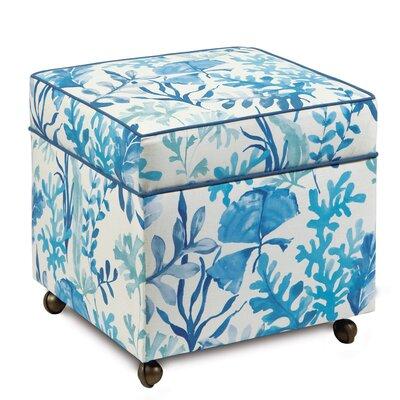 Olympia Azure Storage Boxed Ottoman