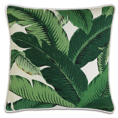 Lanai Palm Cord Down Throw Pillow