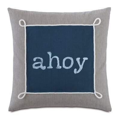 Nautical Ahoy Throw Pillow