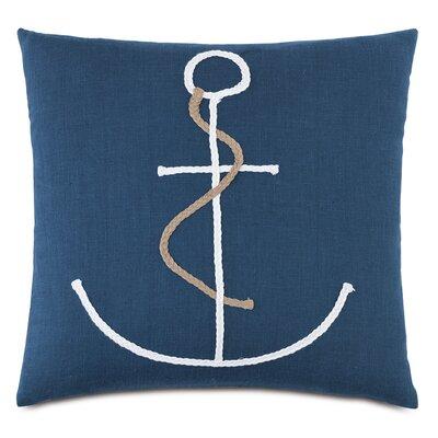 Nautical Braided Anchor Throw Pillow
