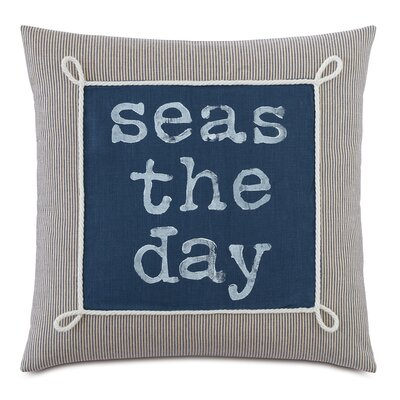 Nautical Seas the Day Throw Pillow