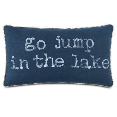 Nautical Go Jump in the Lake Lumbar Pillow