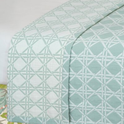 Lavinia Larkin Coverlet Color: Sea, Size: Queen