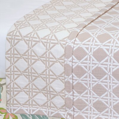 Lavinia Larkin Coverlet Color: Salt, Size: Super King