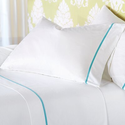 4 Piece Gala 200 Thread Count Sheet Set Color: Aruba, Size: Queen