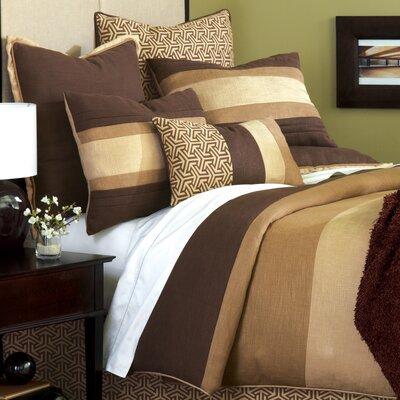 Mondrian Leaf Duvet Cover Size: King, Color: Brown