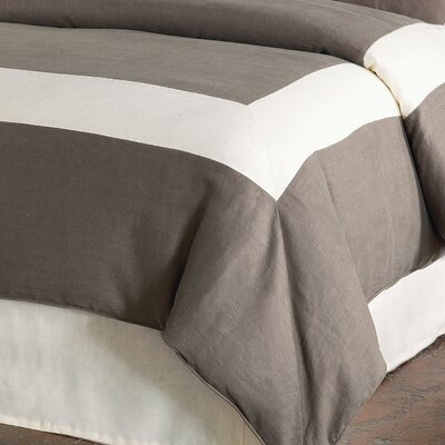 Breeze Mitered Polyester Button-Tufted Comforter Size: Full, Color: Clay/Pearl
